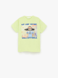 Bluzka Zara T-shirt With A Tiger