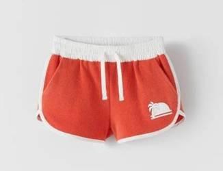 Spodenki Zara Terry Bermuda Shorts