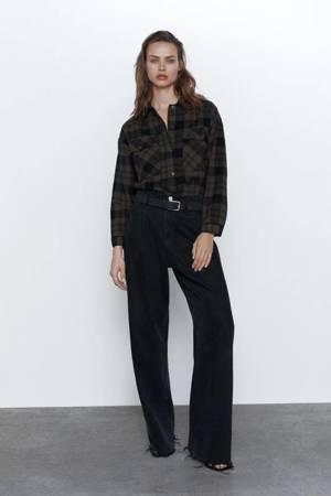 Bluzka Zara Cropped Shirt