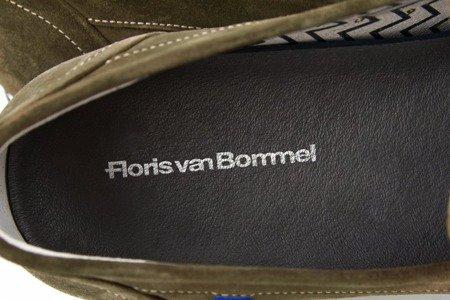 Mokasyny FLORIS VAN BOMMEL P7503 TAUPE SUEDE