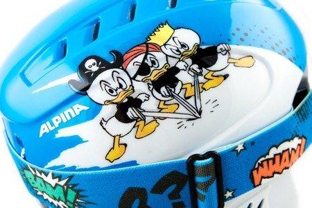 Zestaw Kask Gogle Alpina Carat Set Donald Duck
